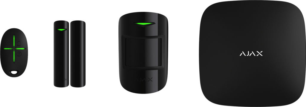 Το σύστημα συναγερμού Αjax διαθέτει έναν μεγάλο αριθμό περιφερειακών ασύρματων στοιχείων
