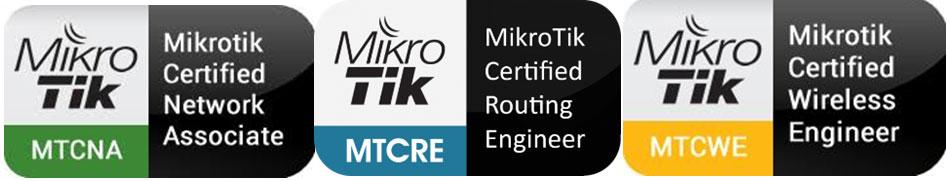 Οι μηχανικοί μας είναι πιστοποιημένοι με τα Certificates της Mikrotik