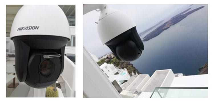 Εγκατάσταση CCTV 2.0 Megapixel Hikvision σε ξενοδοχείο στο Ημεροβίγλι Σαντορίνης